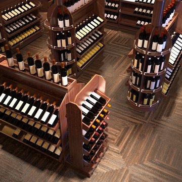 3d render of alcohol shop