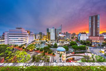 Fototapete - Hamamatsu City, Shizuoka, Japan Downtown Cityscape