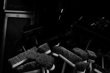 Brooms In Room