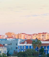 Fototapete - View Lisbon typical living district