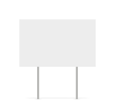 Yard sign vector isolated blank element. Copy space. Horizontal advertising banner. Mockup horizontal. Vector banner.