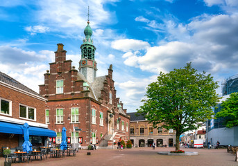 Old town hall and museum in the city of Purmerend, Netherlands