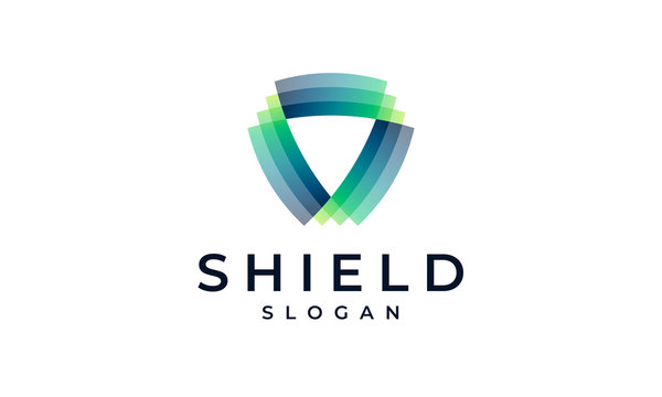 Shield Logo Design Template. Security Agency Modern Vector Protection Symbol Icon