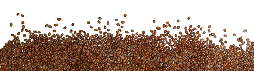 Papiers peints Café en grains coffee beans on a white background