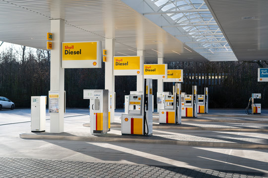 Katy Wroclawskie, Poland – December 20, 2019: Official big opening of Shell gas station.