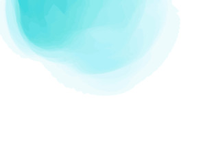 Hand drawn colorful digital spot on isolated white. Colored aquarelle blotch. Paint and ink smudges. Blur stain