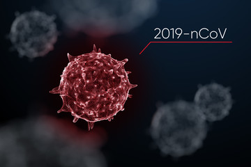 3d iillustration of corona virus
