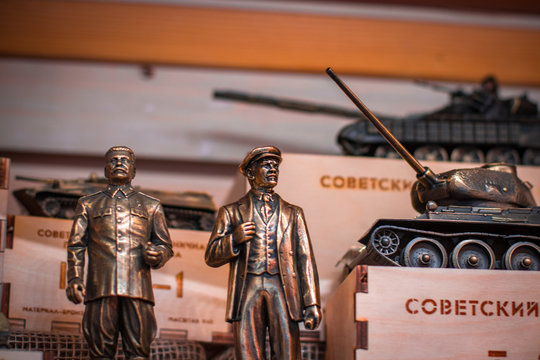 toy soldiers and various folk figures of Russia