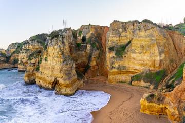 Panorama Ponta da Piedade in Lagos, Algarve, Portugal