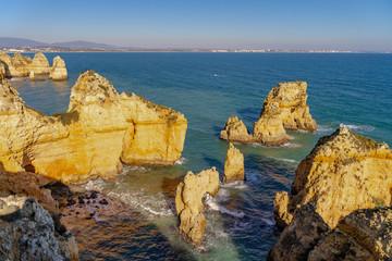 Panoromic view of  Ponta da Piedade in Lagos, Algarve, Portugal