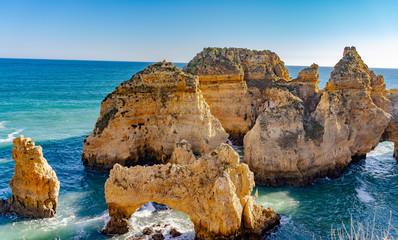 Beautiful  Ponta da Piedade in Lagos, Algarve, Portugal
