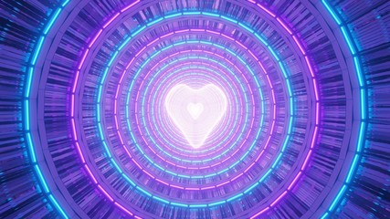 Beautiful vibrant spiral light effects and a heart in the center - great for a romantic background