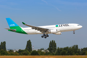 Level Airbus A330 airplane Paris Orly airport