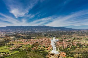 Fotomurales - Mirador El Santo Villa de Leyva skyline cityscape Boyaca Colombi
