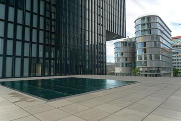 Modern architecture of Dusseldorf