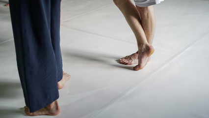 dancer foot, contact improvisation, detail