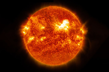 Wall Murals Nasa The sun, a hot star, completely. On a dark background. Elements of this image were furnished by NASA.