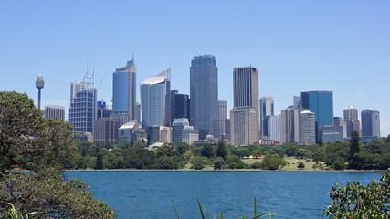 Aluminium Prints Sydney SKYSCRAPERS IN CITY AGAINST BLUE SKY