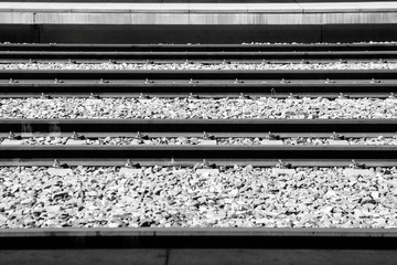 Garden Poster Railroad High Angle View Of Railroad Tracks