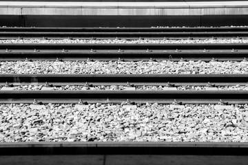 Autocollant pour porte Voies ferrées High Angle View Of Railroad Tracks