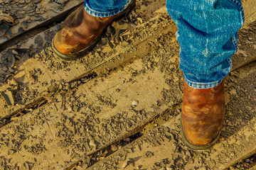 Work Boots & Mud Wall mural
