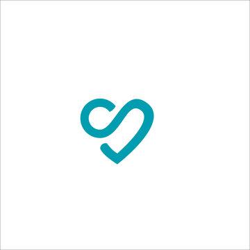 Letter S logo icon love design