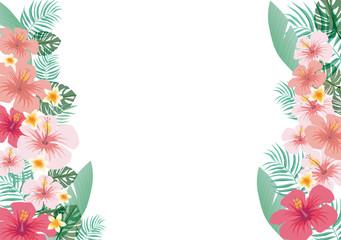 TROPICAL:ハワイ トロピカル ハイビスカス 南国 真夏 沖縄 植物 プルメリア リゾート