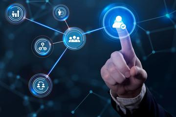 Obraz Business, Technology, Internet and network concept. Human Resources HR management concept. - fototapety do salonu