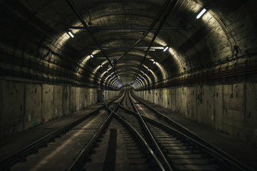 RAILROAD TRACKS IN TUNNEL