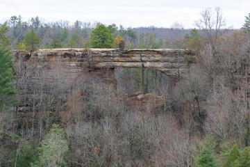 Printed kitchen splashbacks Khaki Natural Bridge from Lookout Point in Natural Bridge State Resort Park - Kentucky