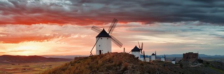Windmill sunset panorama