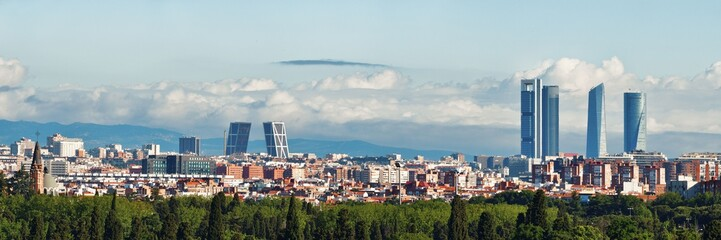 Photo sur cadre textile Madrid Madrid rooftop view