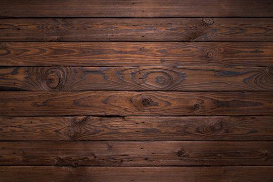 Planks of dark old wood texture background