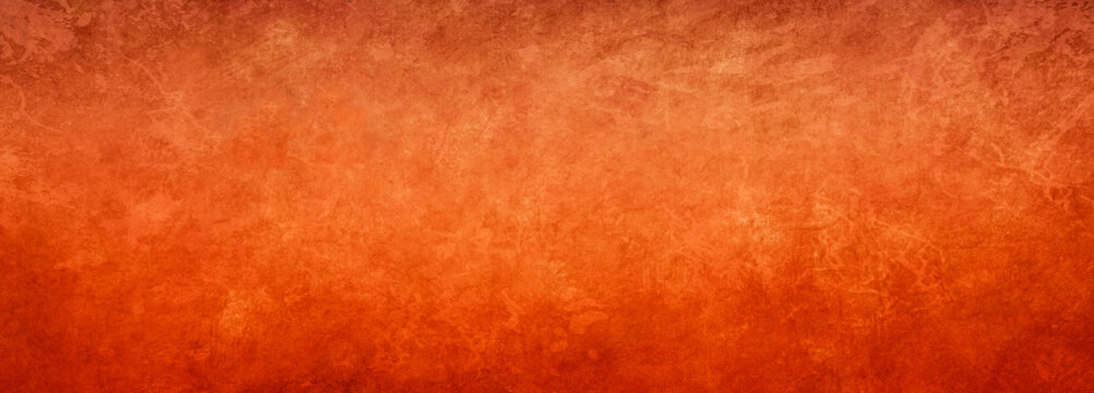 Orange background texture with bright copper color and vintage textured design, elegant fancy rich red orange paper or antique metal rust grunge in luxury backdrop template, autumn or halloween backgr
