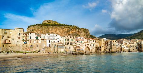 Zelfklevend Fotobehang Palermo Cefalu, medieval village of Sicily island, Italy