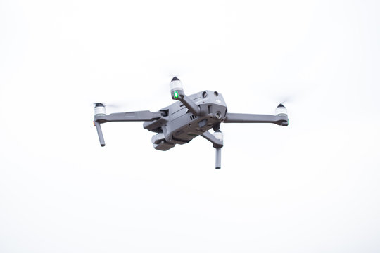 Dji Mavic 2 pro hovering in the air during the daytime