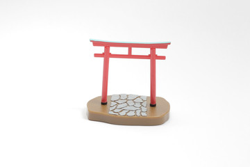 a  mini red gate of Japan shrine, Temple