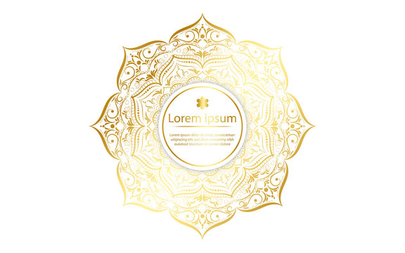 luxury mandala design with gold color, Vector mandala floral patterns with white background
