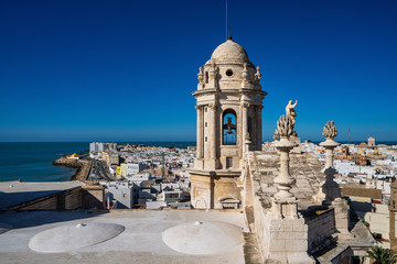New Cathedral or Catedral de Santa Cruz at Cadiz, Andalusia, Spain Fotomurales