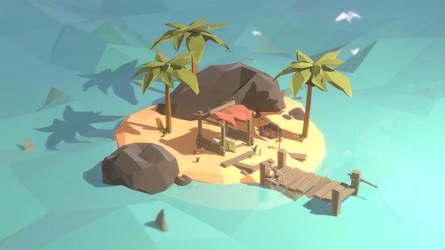 Low Poly Castaway Island