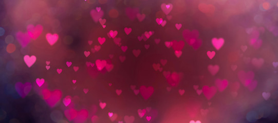 Fototapete - Abstract background with beautiful hearts - concept Mother's Day, Valentine's Day, Birthday , Love