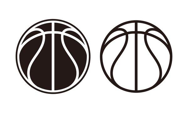 basket ball, Sports balls minimal flat line icon