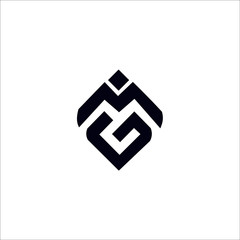 Fototapeta MG M G initial logo design template obraz