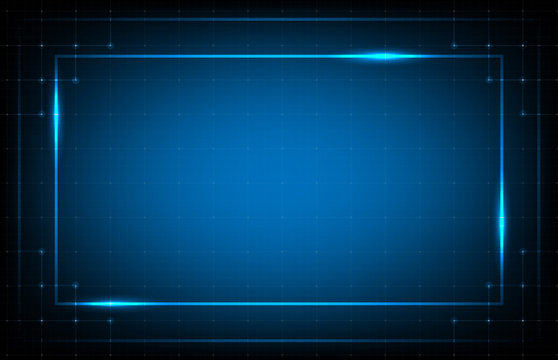 abstract background of blue frame hud ui technology line