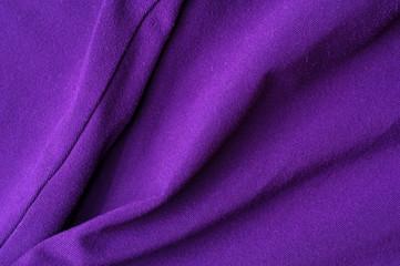 Fragment of crumpled violet polyester wear Fotomurales
