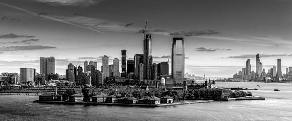 Fine art black and white of NYC skyline