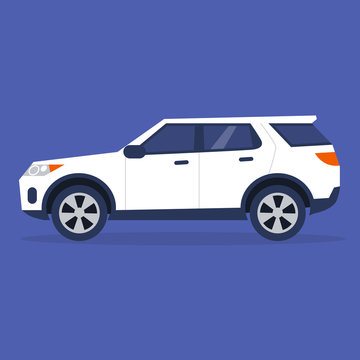 Side view of a sport utility vehicle, no people illustration