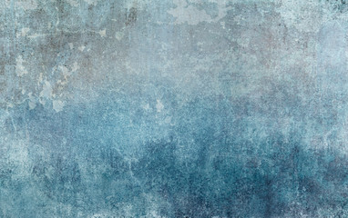 Old distressed blue grungy wall background Fototapete