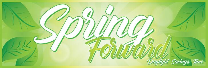 Spring Forward Daylight Savings Time banner