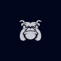 Bulldog logo pets. Business logo vector illustration